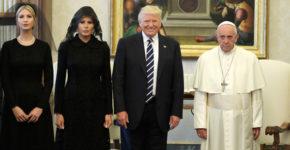 L'équipe présidentielle des EUA avec le Pape (Gtres)