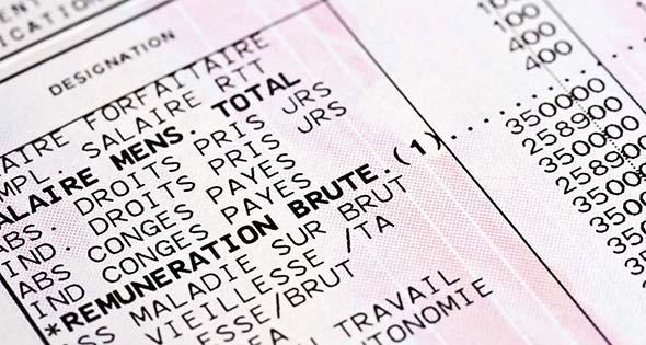 Extrait d'une fiche de paie (Istock)