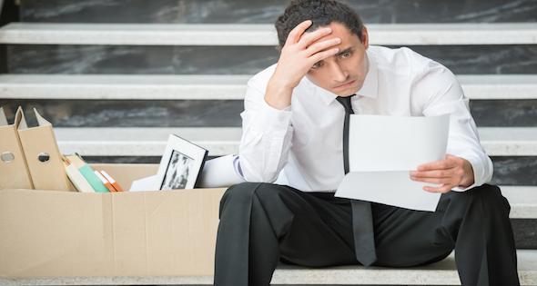 homme au chômage